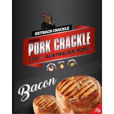 Outback Crackle Bacon Pork Crackle 25g x 12