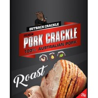 Outback Crackle Roast Pork Crackle 12 individual bags in the box